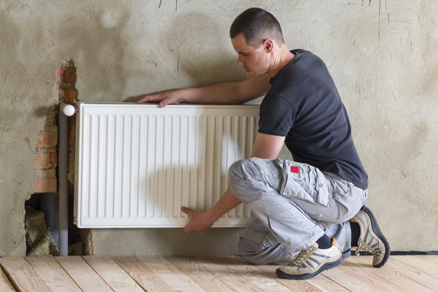 radiator installing
